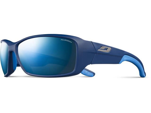 Julbo Run Polarized 3+ Sunglasses Men matt blue/blue/grey flash blue